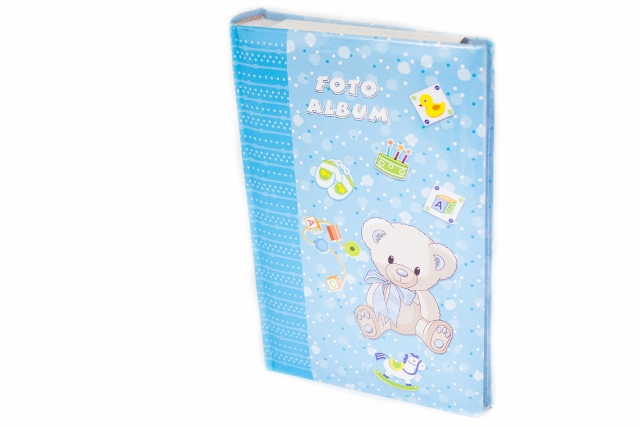 Fotoalbum detský BLUE BEAR 300/10x15 (DETSKý FOTOALBUM NA 300 FOTIEK 10X15CM, MEMO)
