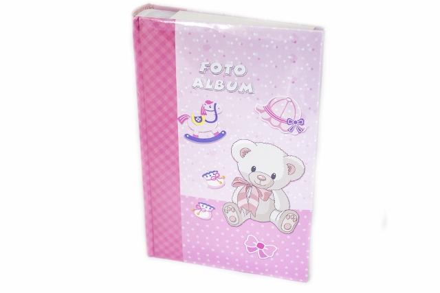 Fotoalbum detský PINK BEAR 300/10x15 (DETSKý FOTOALBUM NA 300 FOTIEK 10X15CM, MEMO)