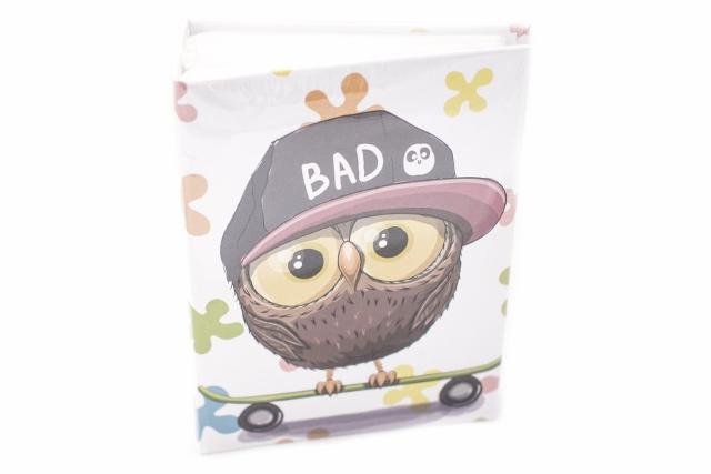 Fotoalbum detský BAD OWL  (DETSKý FOTOALBUM NA 100 FOTIEK ROZMERU 10X15 CM)