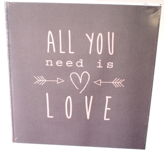 Fotoalbum ALL YOU NEED IS LOVE - GREY